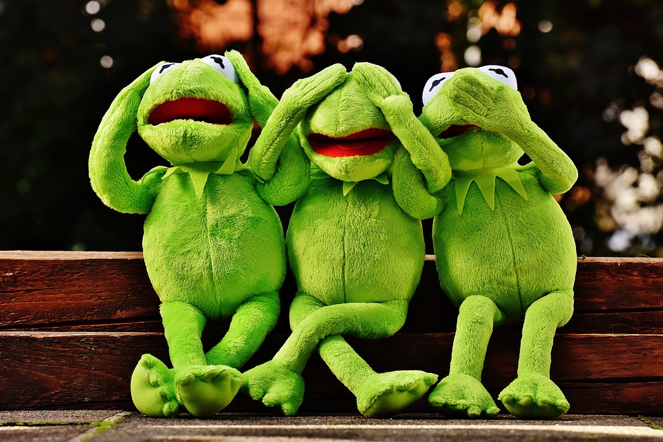 Kermit Not Hear Do Not Speak Funny Not See Frog